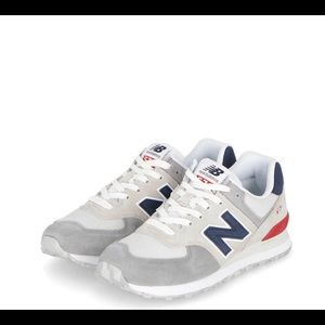 New Balance 574 Shoes Nimbus/Team Red